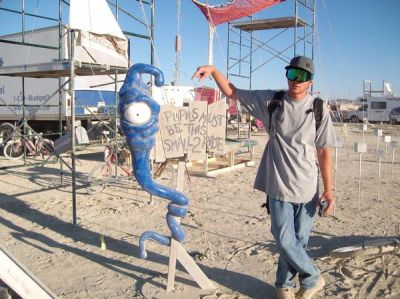 Photo of William at Burning Man